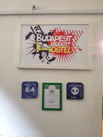 Budapest Budget Hostel : Certificate of Excellence from Trip Advisor