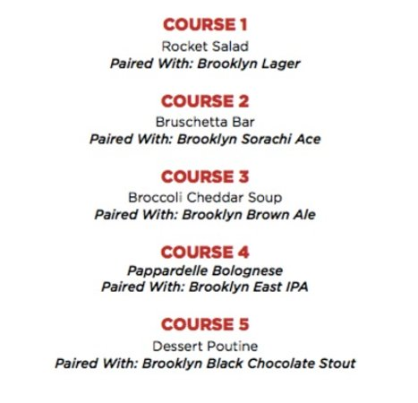 Townhall South Surrey's 5 Course Brooklyn Brewery & Carlsberg Pairing Dinner – August 25, 2016