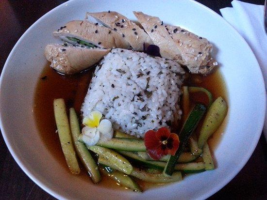 Chicken Negimaki, Brownstone Restaurant, Kamloops, BC