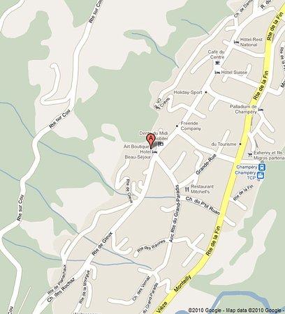 Champery, Zwitserland: Location