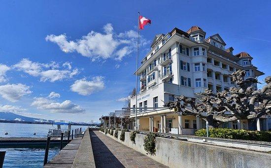 Hilterfingen, Suiza: Hotel Bellevue au Lac - Winter