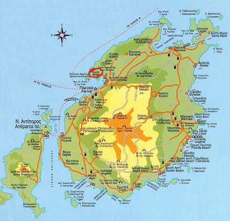 Paros Agnanti Resort: Map