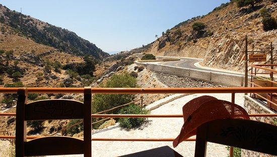 Impros, Yunanistan: Вид на вход в Ущелье Имброс