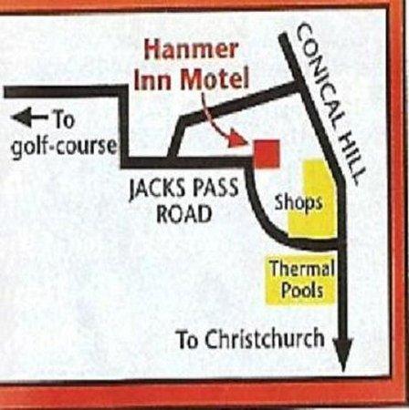 Hanmer Springs, นิวซีแลนด์: Location Map