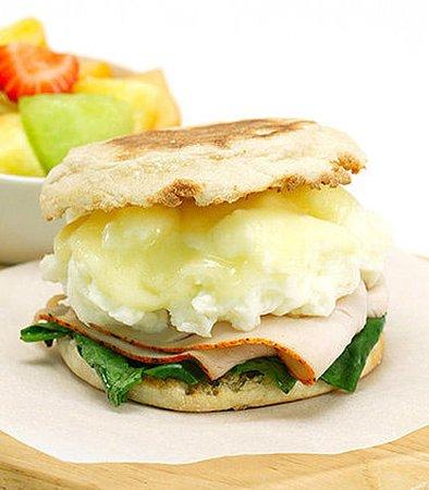Hesperia, كاليفورنيا: Healthy Start Breakfast Sandwich