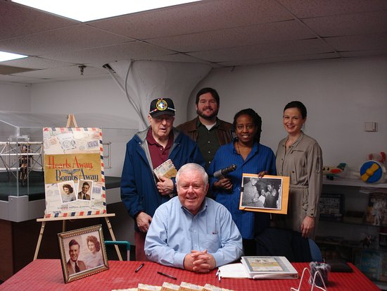 Middle River, MD: Author Vince Gisriel, Berlin Airlift hero Fred Hall and Museum actors greet visitors for Meet th