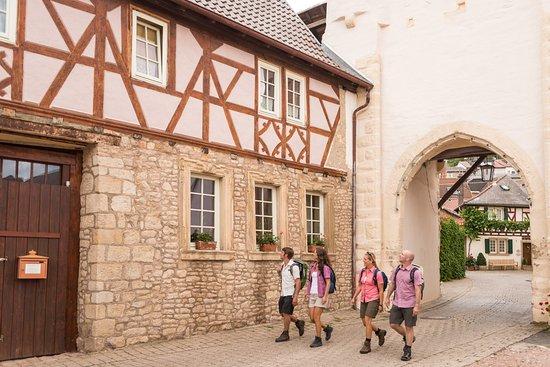 Ingelheim, Germany: Uhrturm und Altstadt von Neu-Bamber - Hiwweltour Heideblick, Hiwweltour Eichelberg