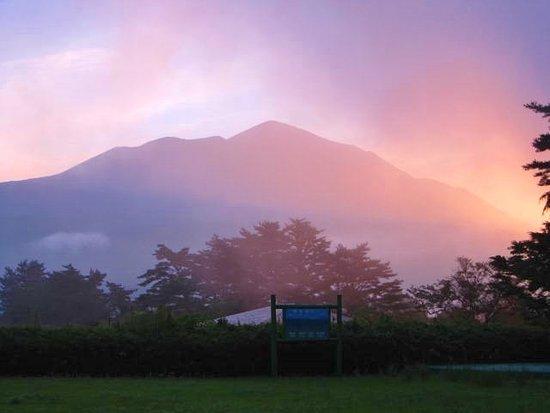 Miyakonojo, Giappone: 高千穂峰の朝焼け
