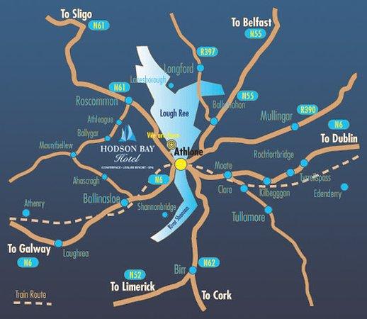 Athlone, Irland: Map