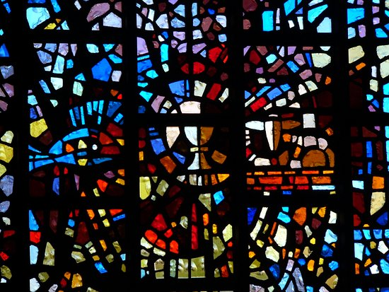 Christ Episcopal Church: Fish, Chalice, and lamb