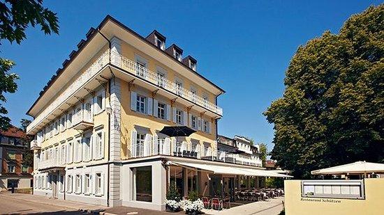 Rheinfelden, Suiza: Hotel Schützen from Bahnhofstrasse