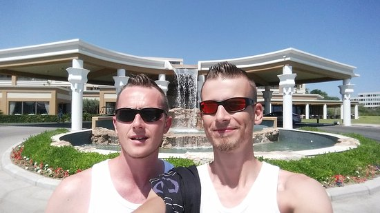 La Marquise Luxury Resort Complex: Us in front of the entrance