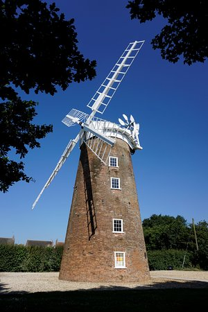 Dereham, UK: sails on the windmill