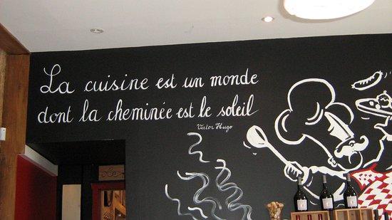 Fougeres, Fransa: particolare del ristorante