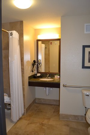 Accessible Guest Room Bathroom at Holiday Inn Eau Claire South