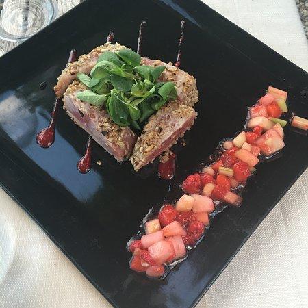 Sala Comacina, Ιταλία: Cena romantica, tavolino vista lago