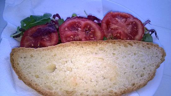 Verghereto, Italien: panino vegetariano