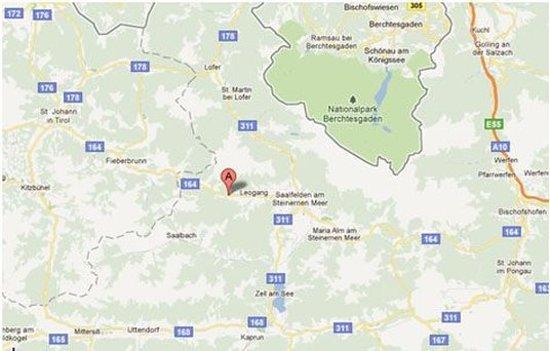 Leogang, Austria: Map