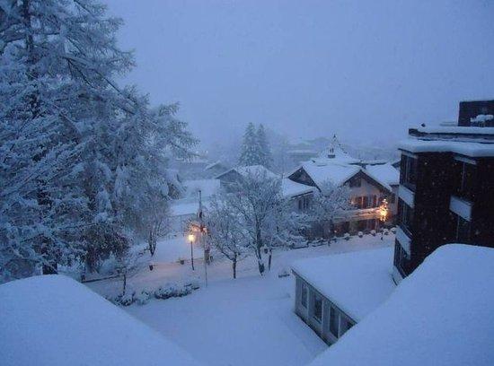 Leukerbad, Schweiz: Hotel area