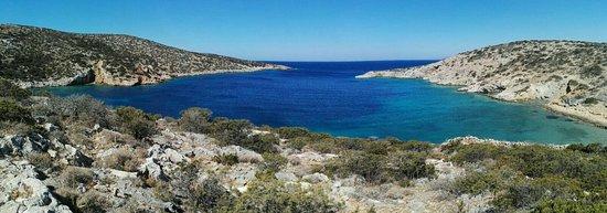 Schinoussa, Hellas: Spiaggia di Gerolimnionas