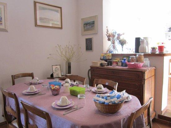 Il Casale dell'Ara delle Rose Bed & Breakfast: Sala Breakfast