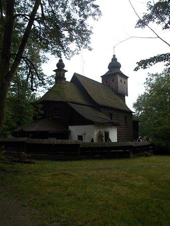 Roznov pod Radhostem, Czech Republic: Valašské muzeum v přírodě - Městečko - kostel