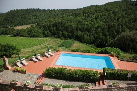 Vagliagli, Italia: Pool view