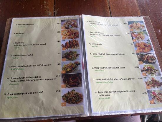 Takieng Restaurant: Takieang Menu