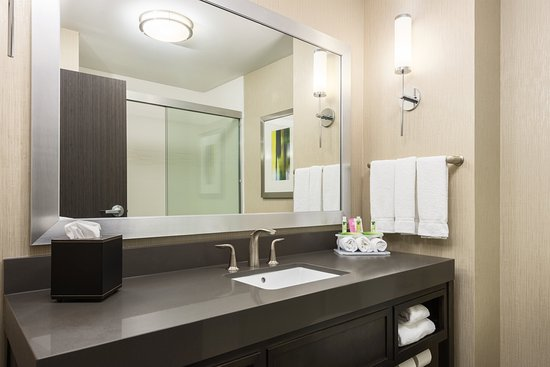 Norman, OK: Guest Bathroom Featuring Blowdryer and Guest Amenities