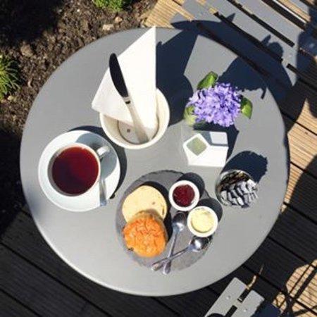 West Sussex, UK: Cream tea for one!