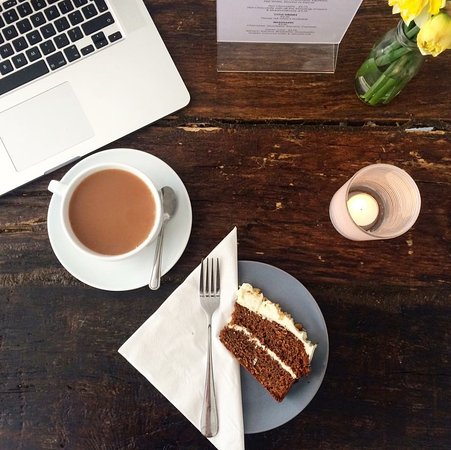 West Sussex, UK: One of your five a day with a slice of carrot cake