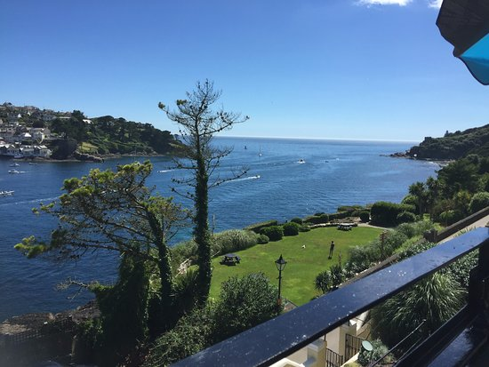 Fowey, UK: View from the bar balcony and was similar from our room