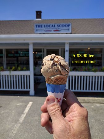 The Local Scoop: A $3.90 ice cream cone.