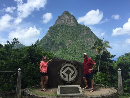 Gros Islet, St. Lucia: One of the many beautiful views during our tour.