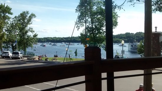 Hudson, WI: View from our table on the deck at Pier 500.
