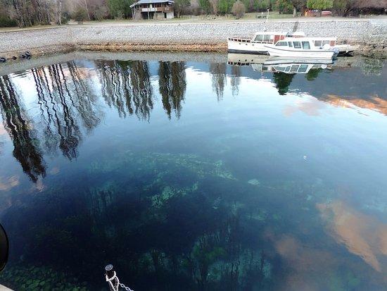 Lago Puelo, Argentina: Otra vista del Muelle Nuevo y sus aguas.
