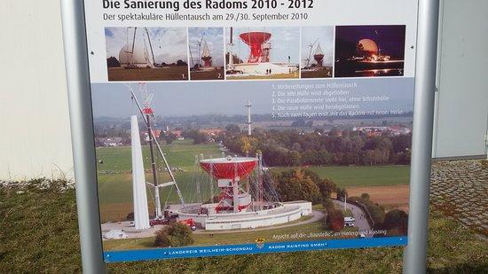 Raisting, Alemania: Eine der Schautafeln