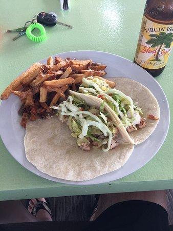 Eat at Cane Bay: Fish Tacos