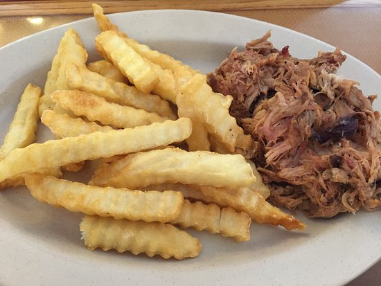 Perry, GA: Pulled pork and French fries