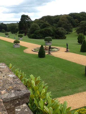 Hampshire, UK : View from the terrace