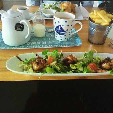 Portmahomack, UK: Special of the day Orkney scallops