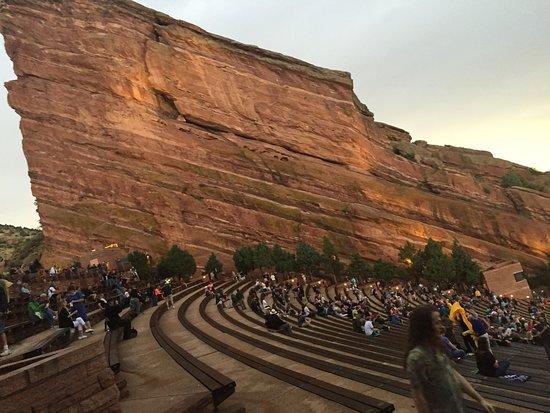 Morrison, CO: Rock formation stage left