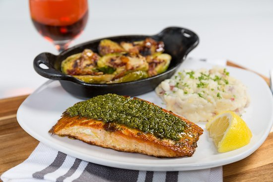Crystal Lake, IL: Basil Pesto Salmon