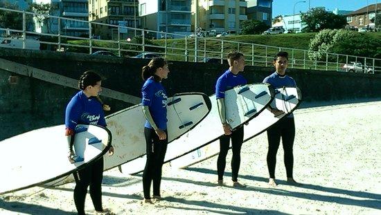 Surfing Bondi