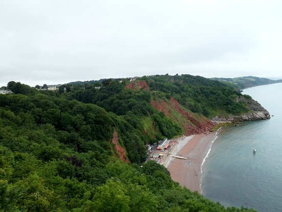 The Downs, Babbacombe: Babacombe beach from the downs