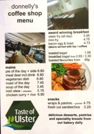 Donnelly's Bakery & Coffee Shop: Menu