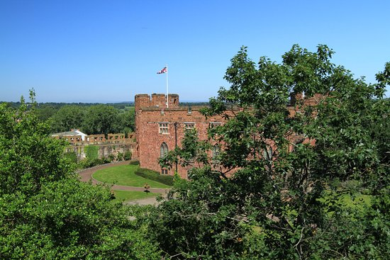 Shrewsbury, UK : Castle grounds from Laura's Tower