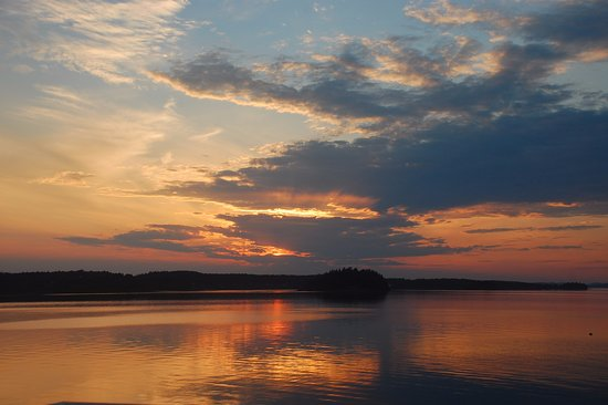 Lubec, ME: sunset from the shared deck