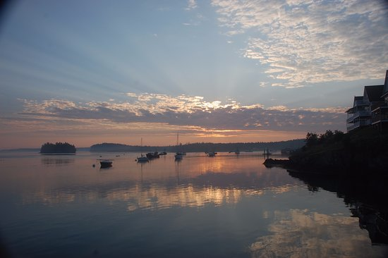 Lubec, ME: sunrise from the shared deck
