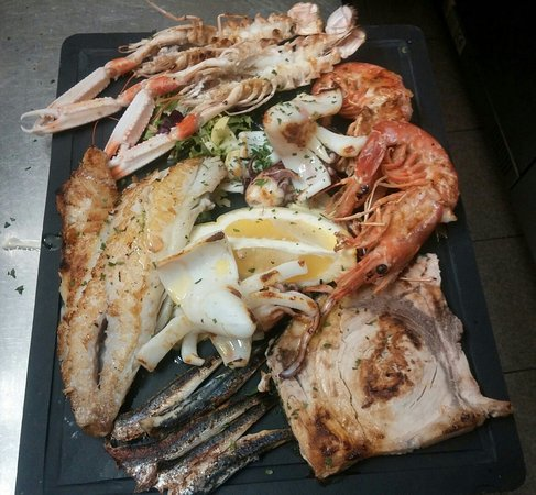 la nostra grigliata di pesce..